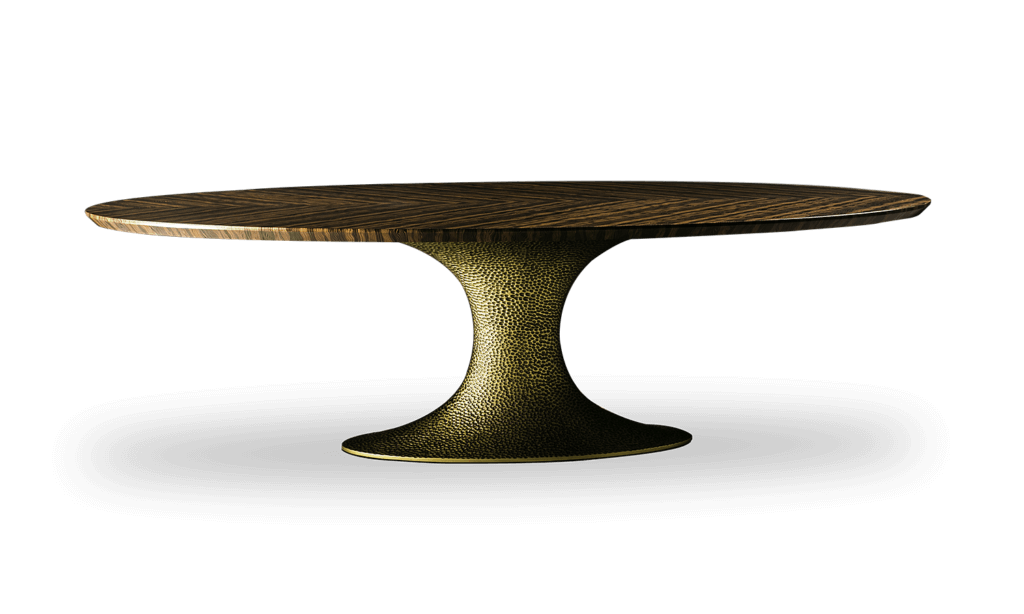 Ines Hammered - Oval