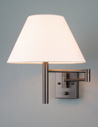 Swing-arm Wall Lamps w/Shades - Casella Lighting