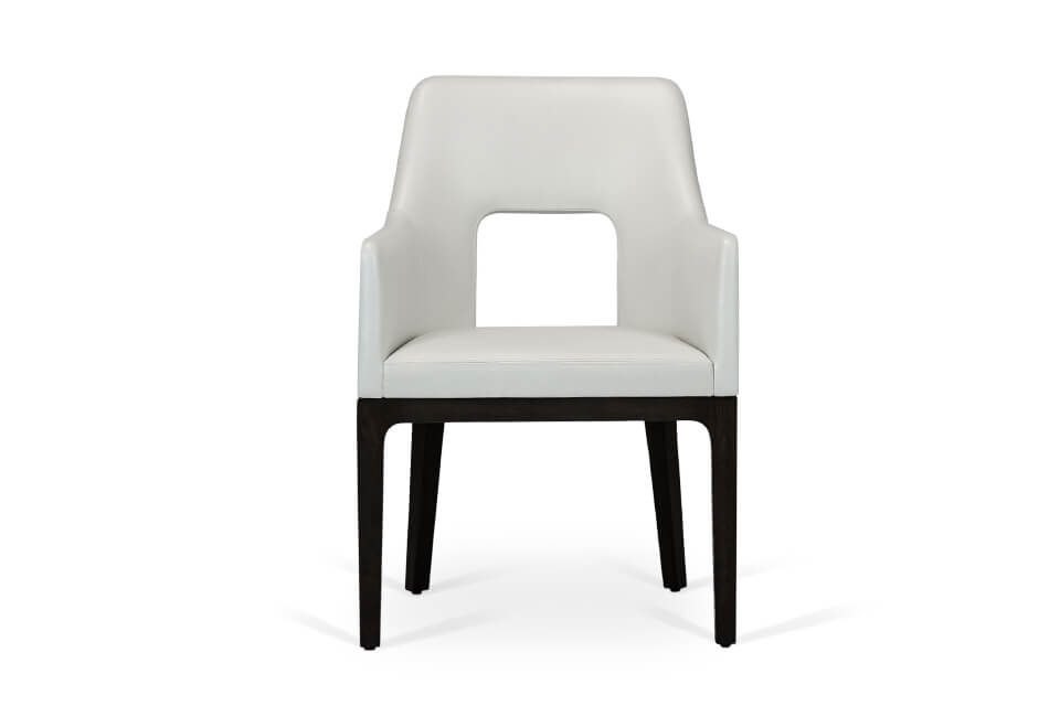 Praha Arm Dining Chair Front