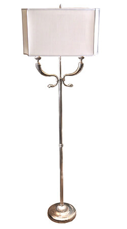 Cache Dolphin Silver Plated Floor Lamp