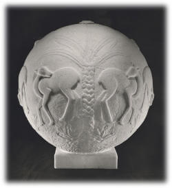 Cache Carved Stone Sphere